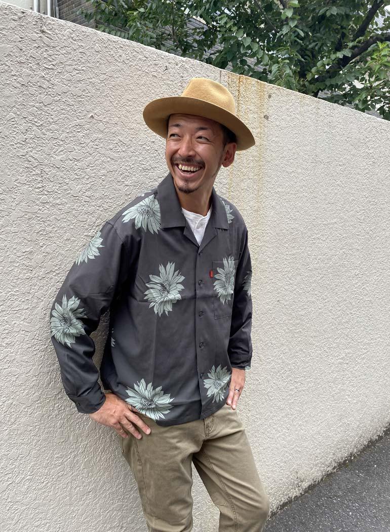 """オープンカラーシャツ """"Cactus Flower"""""""