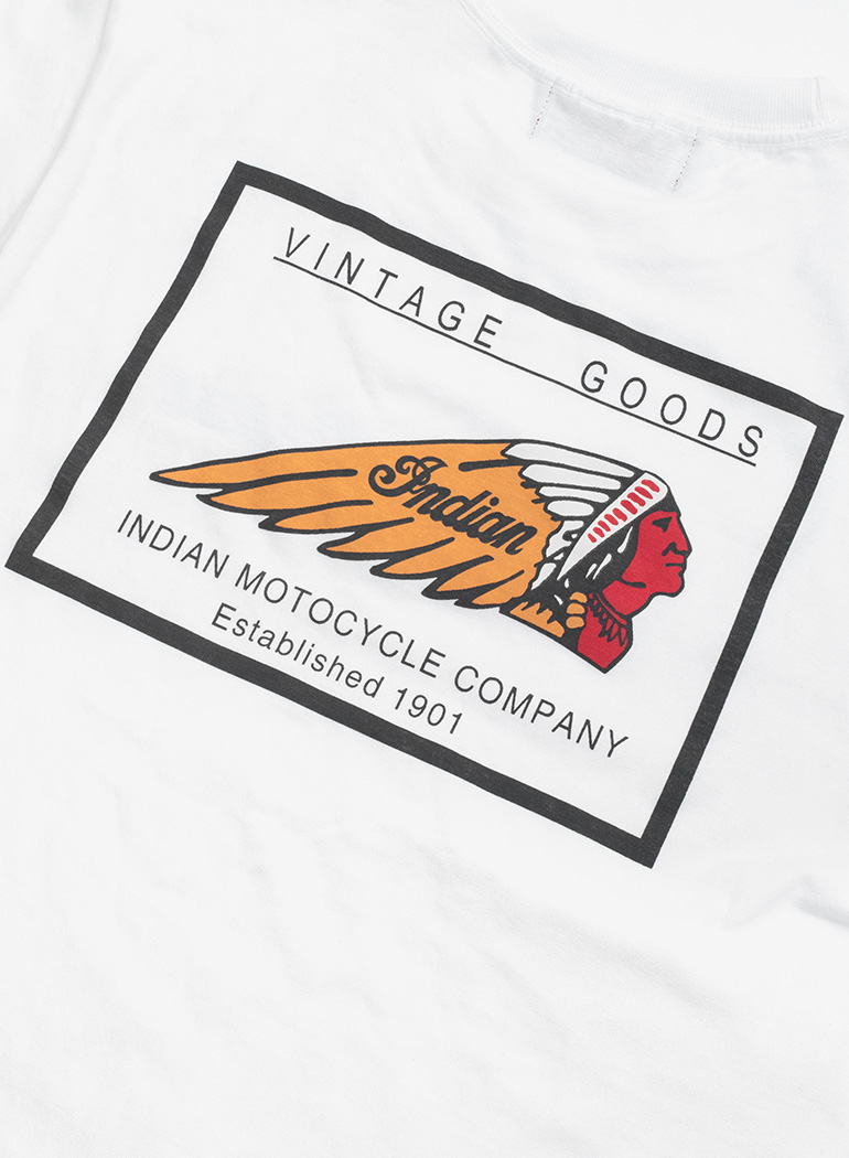 "Indian Basic S/S T-shirt ""Vintage Goods"""