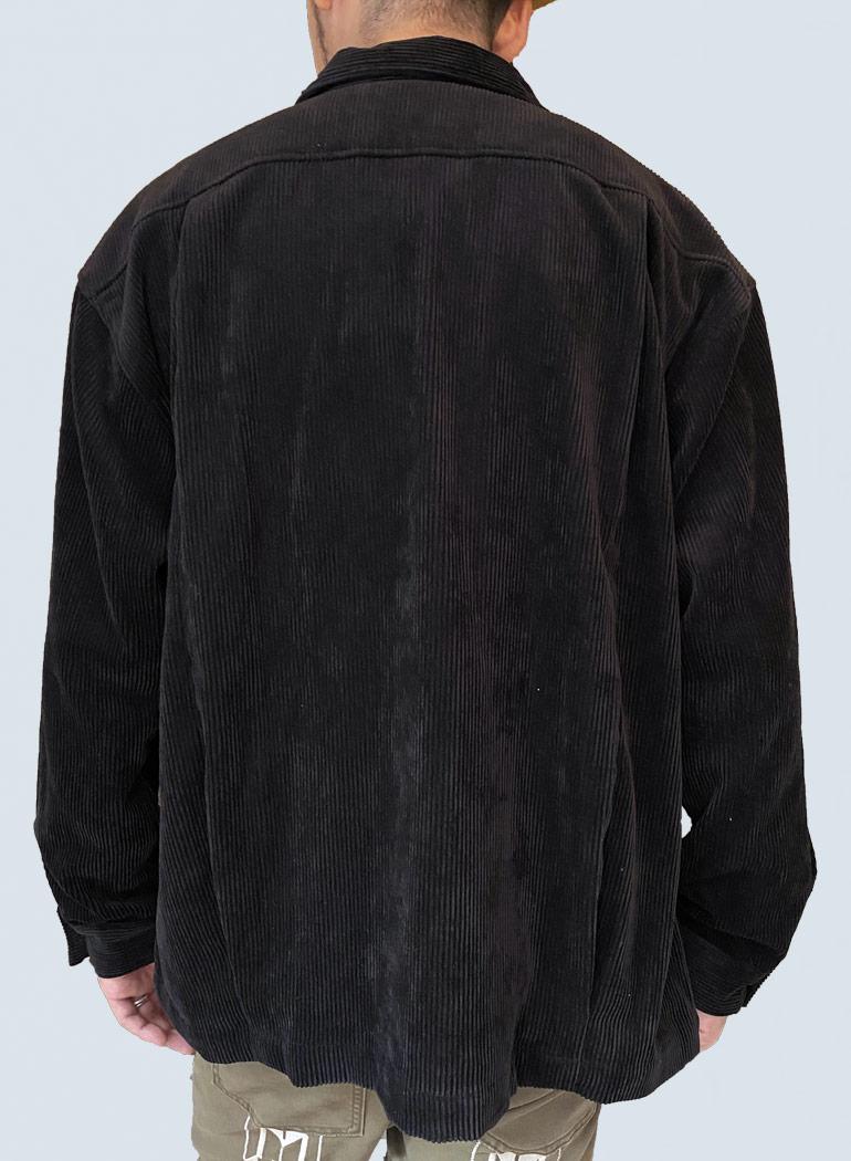 ストレッチ コーデュロイ BIGシャツジャケット
