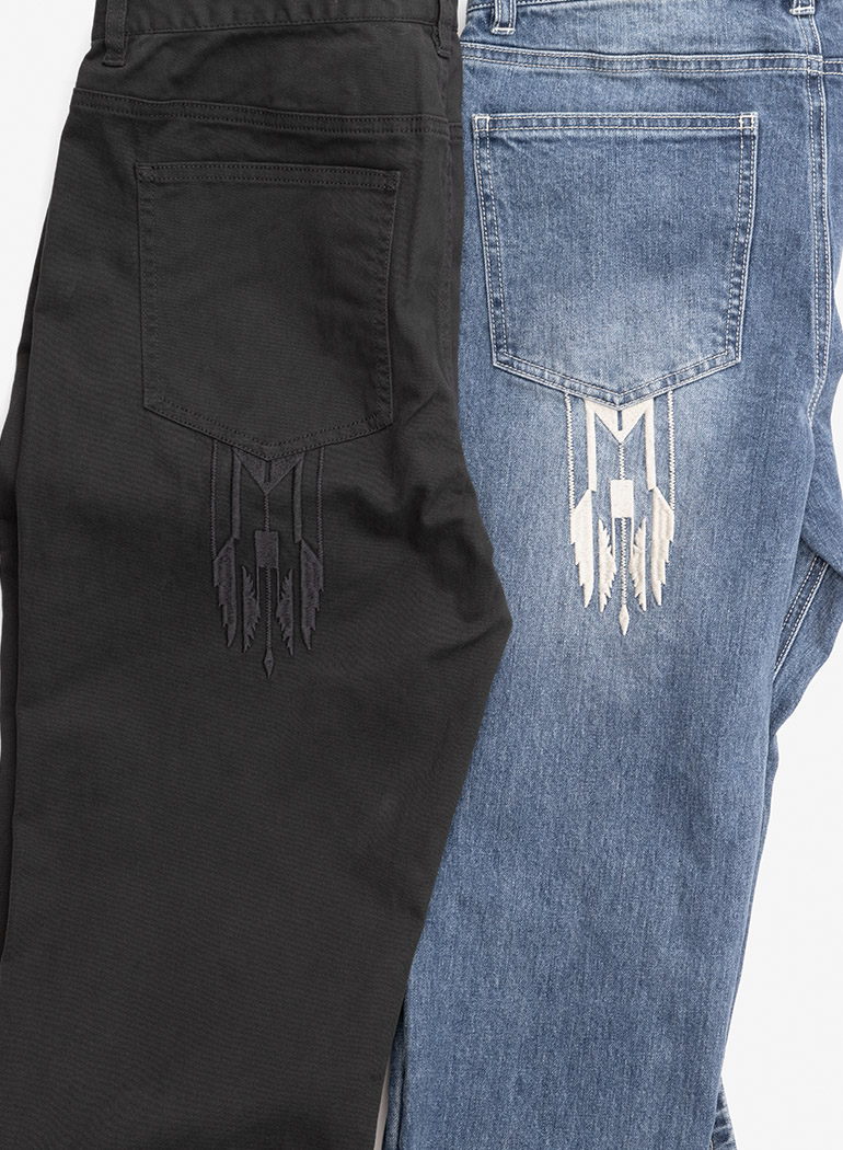 "Indian Basic Denim Pants ""Arrow"""