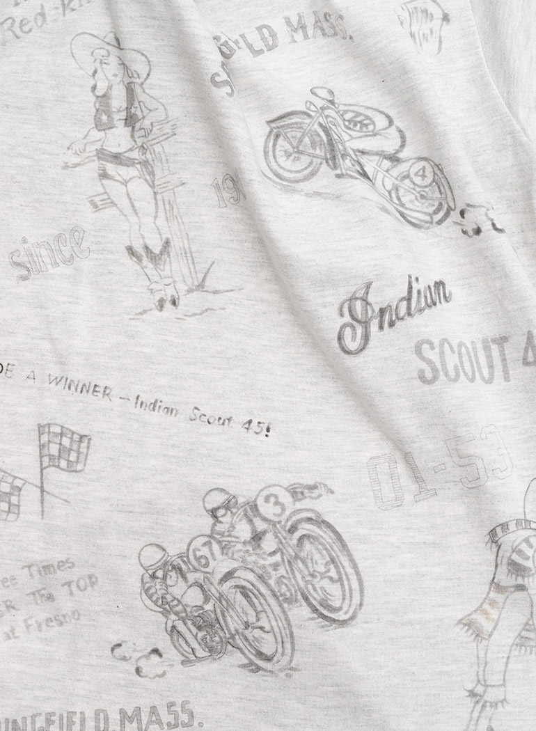 """Hand Painting Tee """"MOTOCYCLE RACES 1930s"""""""