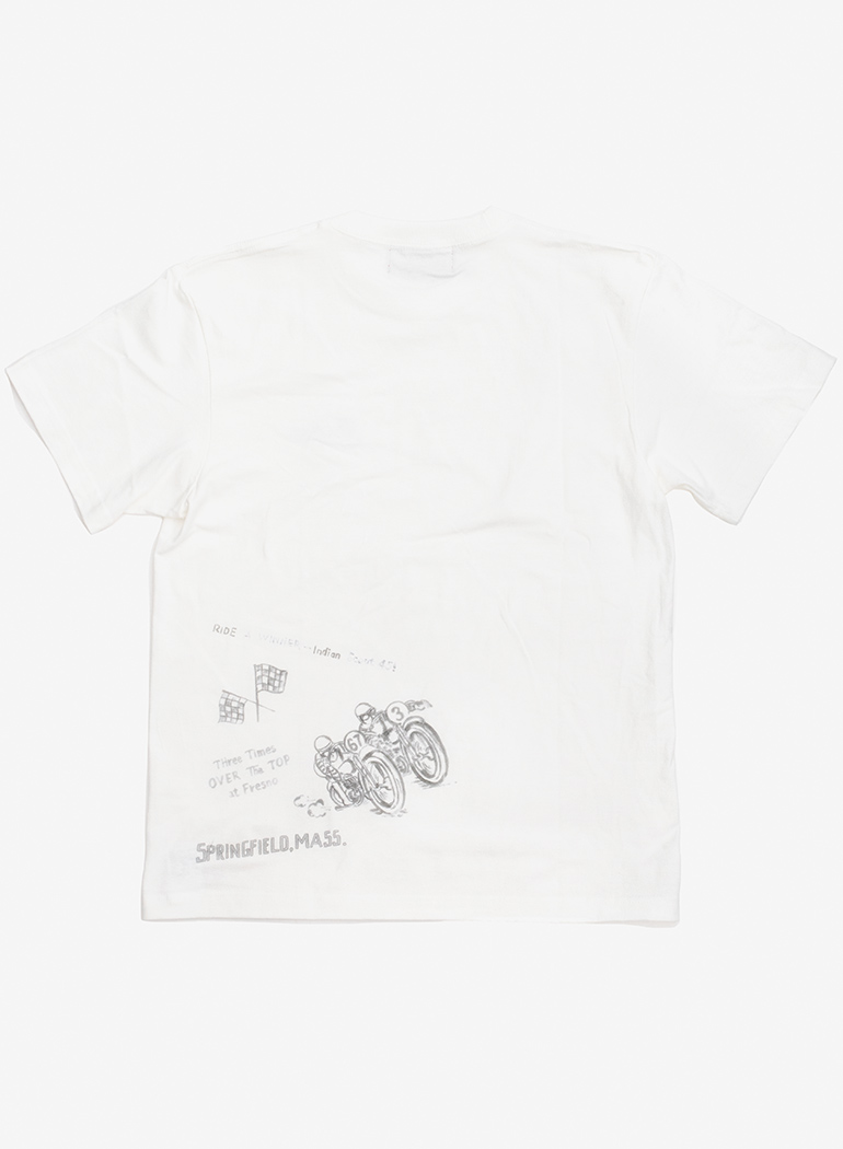 """【TC対象商品】 Hand Painting Tee """"The Checkered Flag"""""""