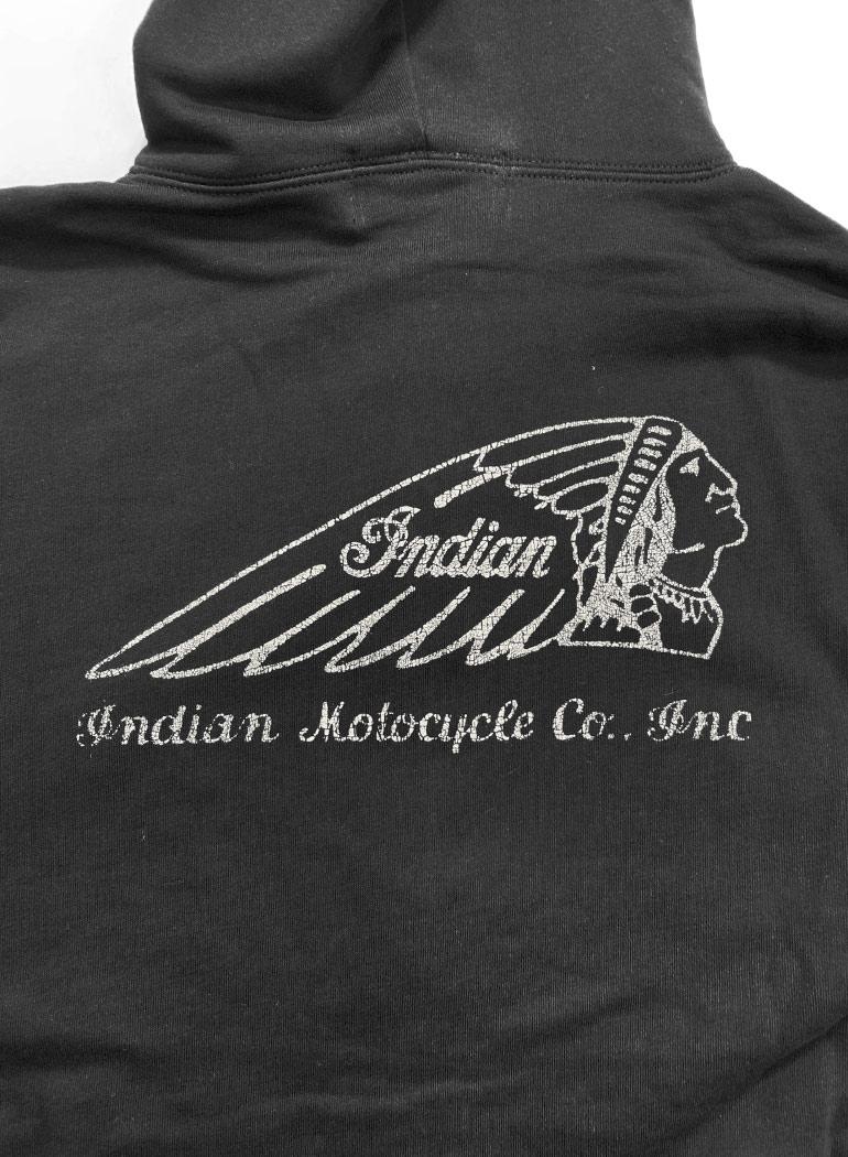 インディアン ベーシック ジップアップ パーカー