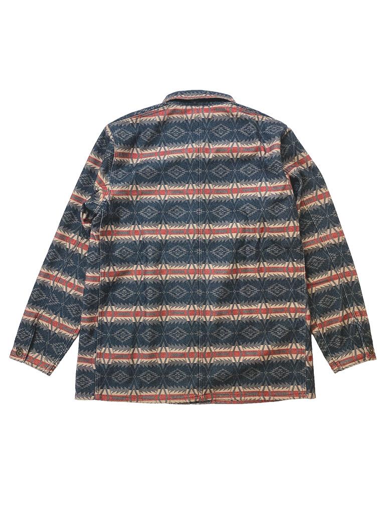 ネイティブ柄 カバーオールジャケット