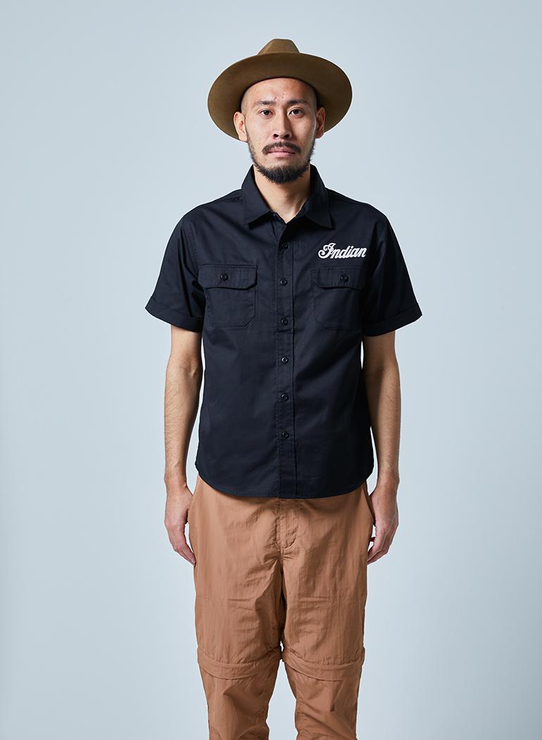 Indian Works ショートスリーブ ワークシャツ