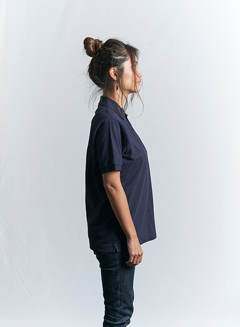 インディアン ベーシック 鹿の子 ポロシャツ (ロゴ)