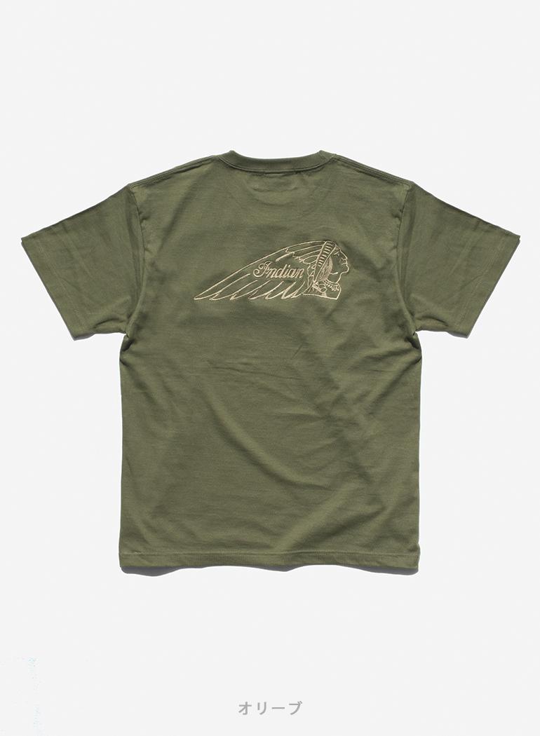 "【TC対象商品】 Indian Basic S/S T-shirt ""Big Headmark"""