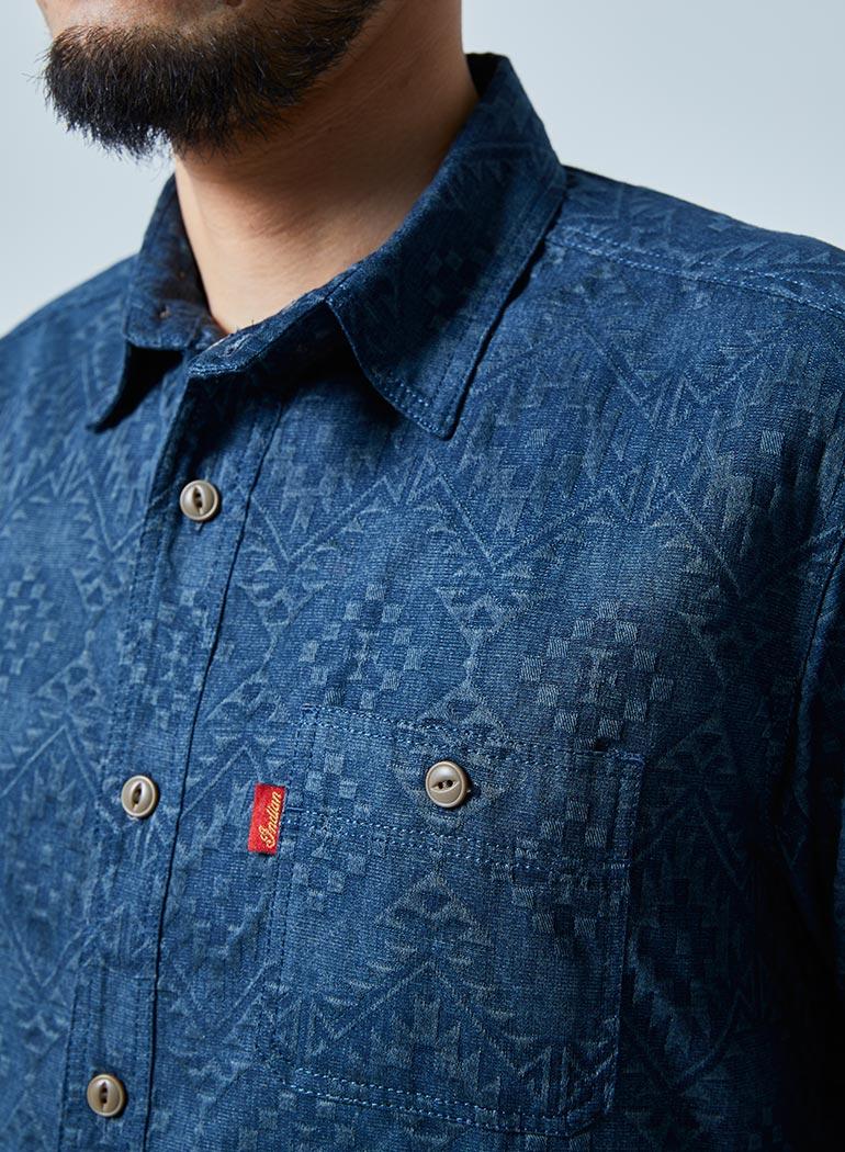 ネイティブジャカード ワークシャツ