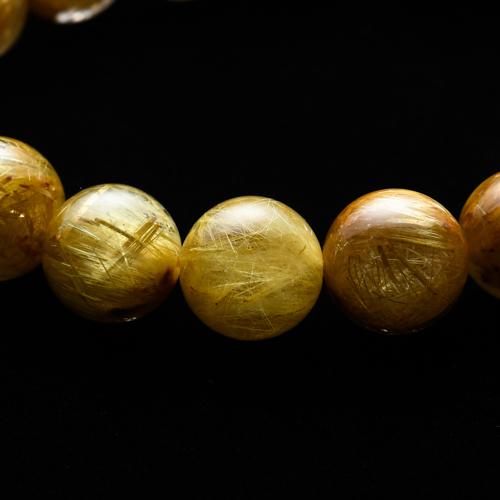 【小池浩セレクト】ゴールドルチルクォーツ・ブレスレット・サイズ18cm【KHS0009】