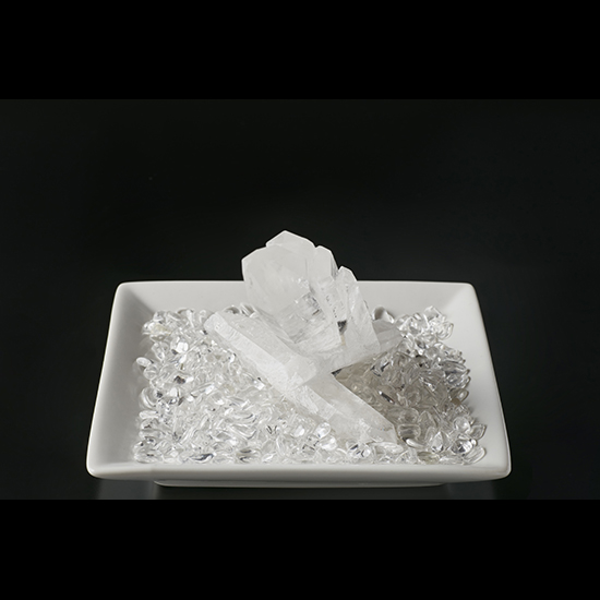 【モンゴル産】水晶クラスター&さざれ石200g【MNG0003】