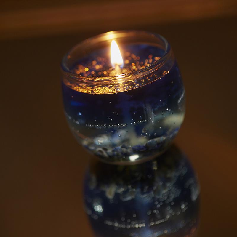 【さざれ石(天然石)】オリジナル浄化キャンドル 全5種類
