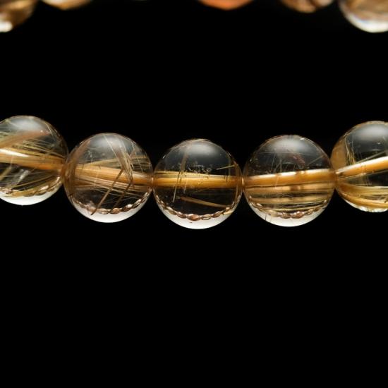 【小池浩セレクト】ゴールドルチルクォーツ・ブレスレット・AAAA+(4A+ランク)・サイズ約19cm【KHS0043】