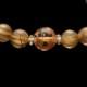 【小池浩セレクト】ゴールドタイチンルチルクォーツ・ブレスレット・AAAAA+(5A+ランク)・サイズ約16cm【KHS0046】