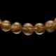 【小池浩セレクト】極上品ゴールドタイチンルチルクォーツ・ブレスレット・AAAAA(5Aランク)・サイズ約17cm【KHS0049】