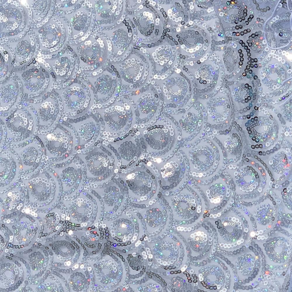 ホログラムスパンコールフリンジヒップスカーフ