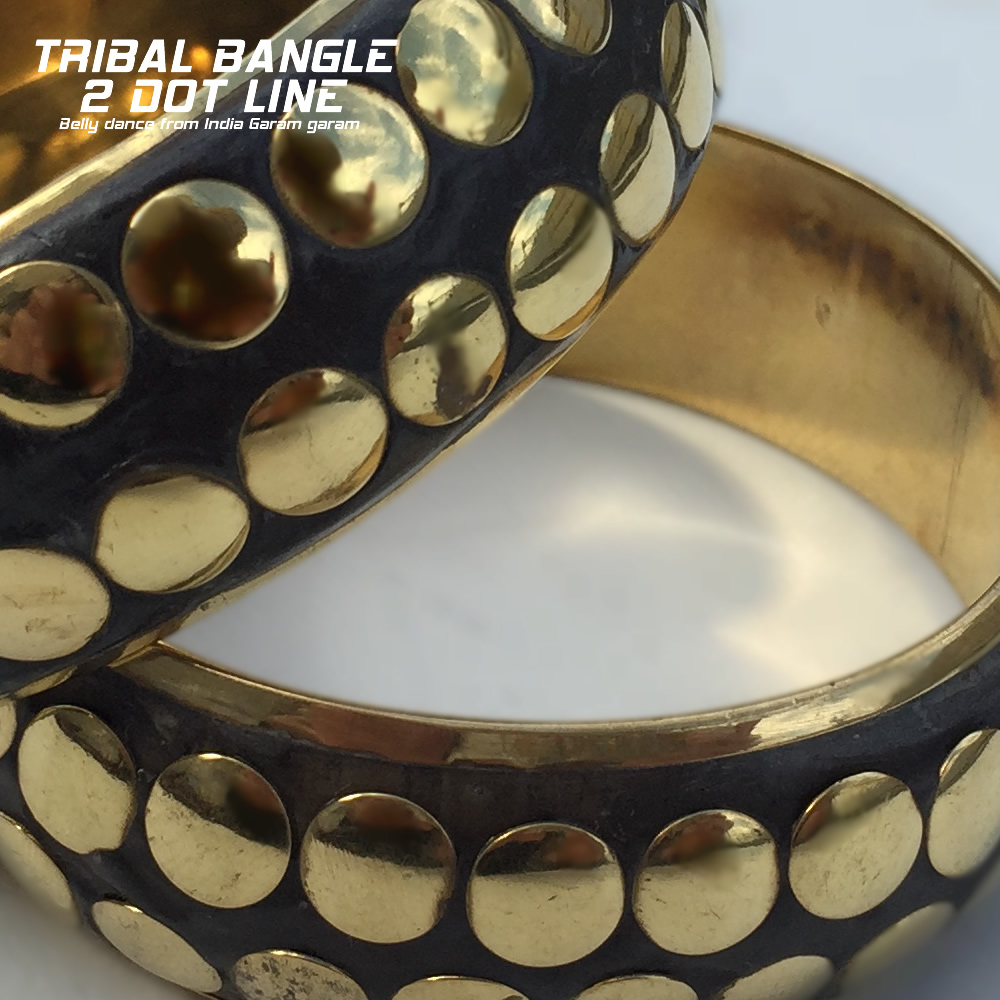 トライバルバングル 2ドットライン