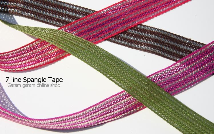 7ラインスパンコールテープ (100cm)