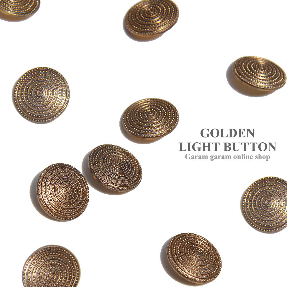 ゴールデンライトボタン(5個)