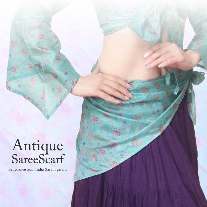アンティークサリースカーフ