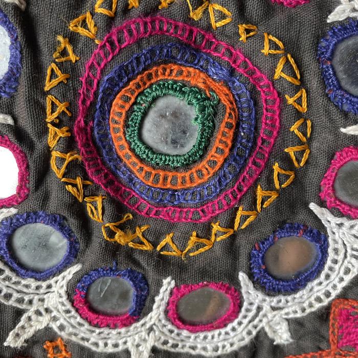 民族衣装アンティークダウリーバッグ(アヒール族)24C