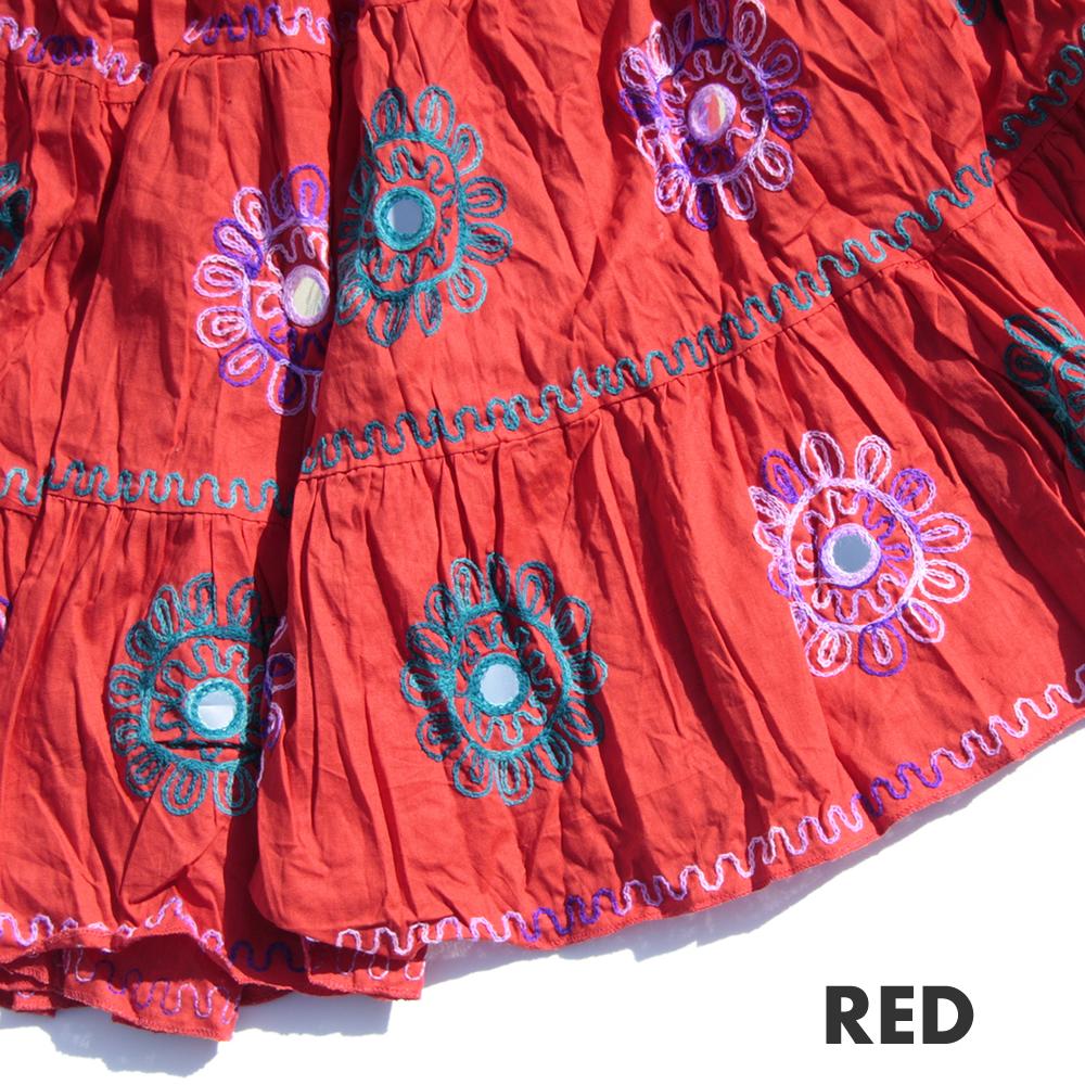 【80cm・85cm】ジプシーフラワーEMB12ヤードスカート