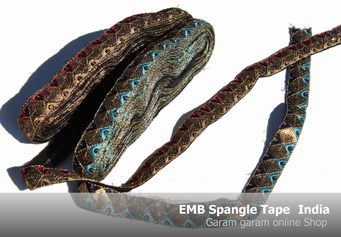 EMBスパンコールテープインディア(100cm)