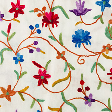刺繍ストール アーリ 白(ホワイト) ギフト 誕生日 プレゼント 着物ショール