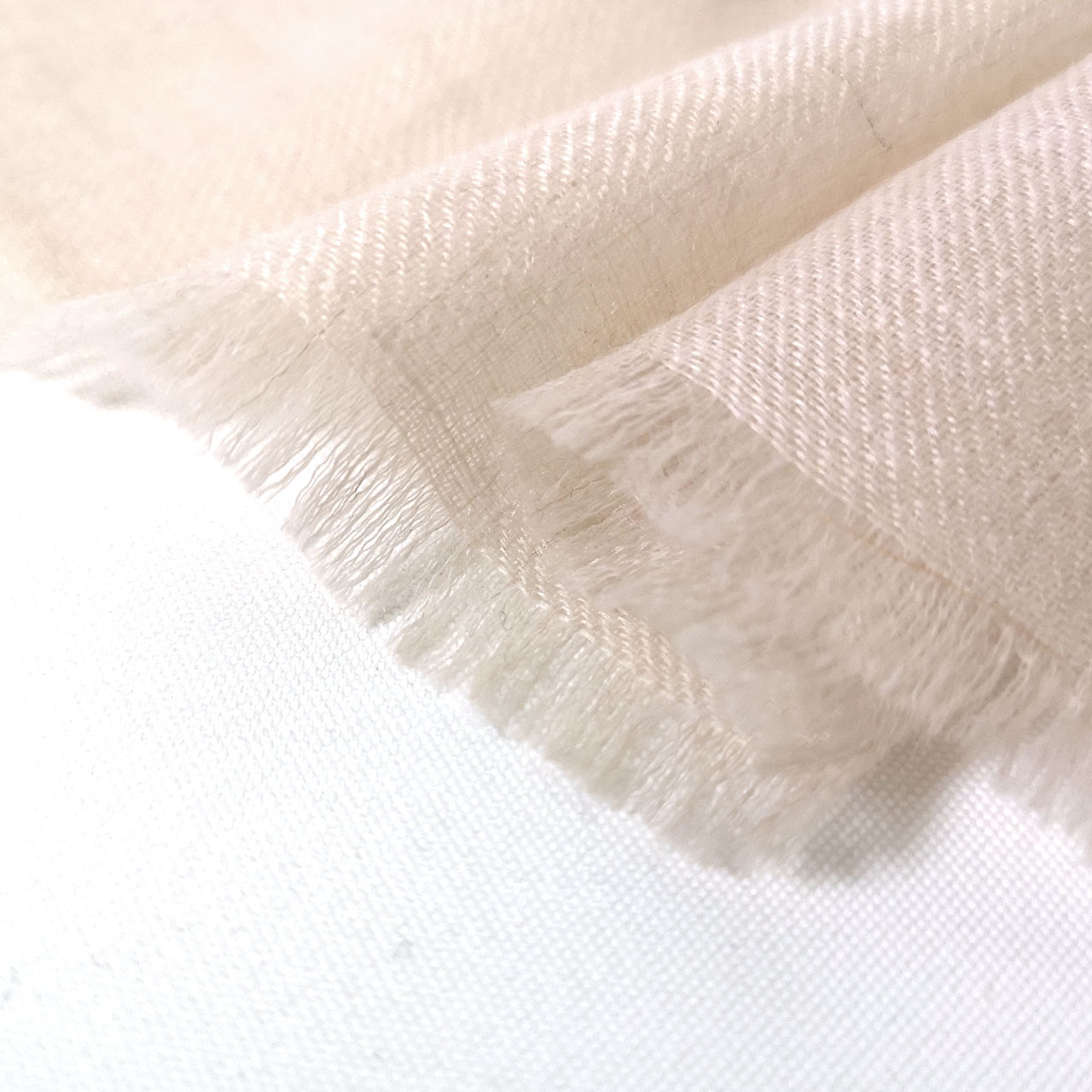 メンズ 刺繍ストール マフラー パシュミナ ナチュラルベージュ×ネイビー [70cm巾]  誕生日 プレゼント 秋冬