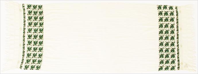 刺繍ストール アーリ 白(ホワイト)K03 ギフト 誕生日 プレゼント 着物ショール