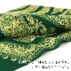 刺繍ストール アーリ 緑(グリーン) ギフト 誕生日 プレゼント 着物ショール
