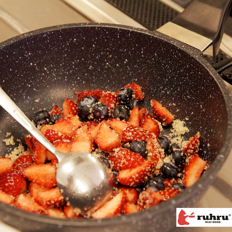 【20cm深型 IH】 ruhru(ルール)健康フライパン 20cm x 7.5cm 深鍋 IH&直火用
