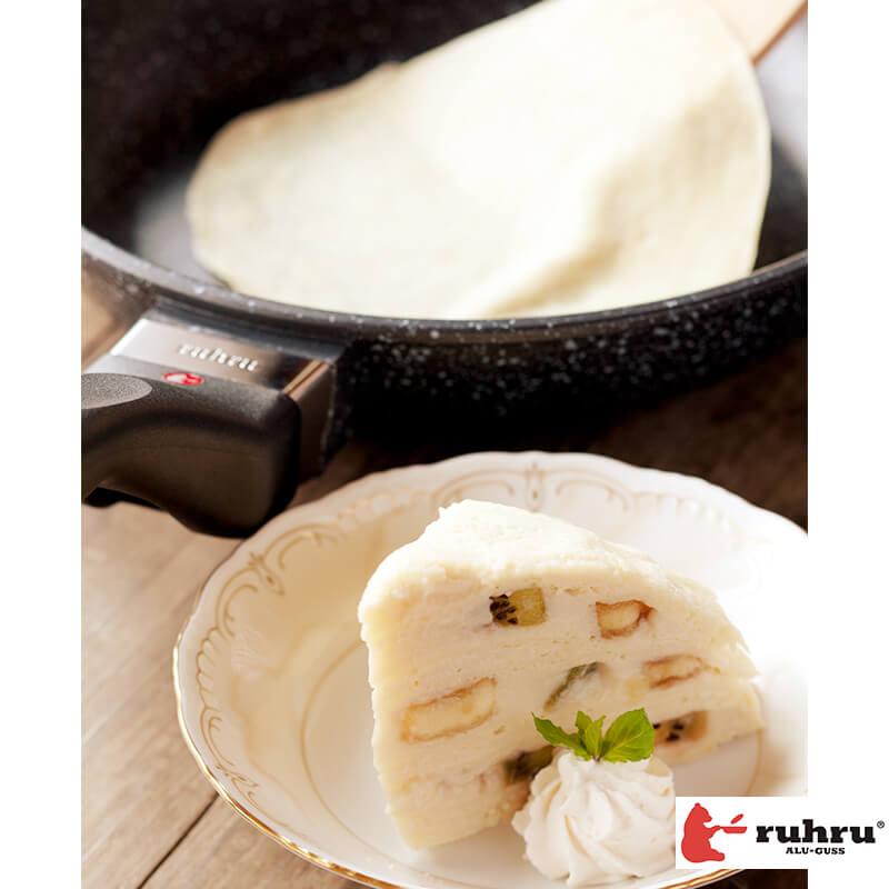 【24cm浅型 IH】 ruhru(ルール)健康フライパン 24cm x 5.3cm IH&直火用