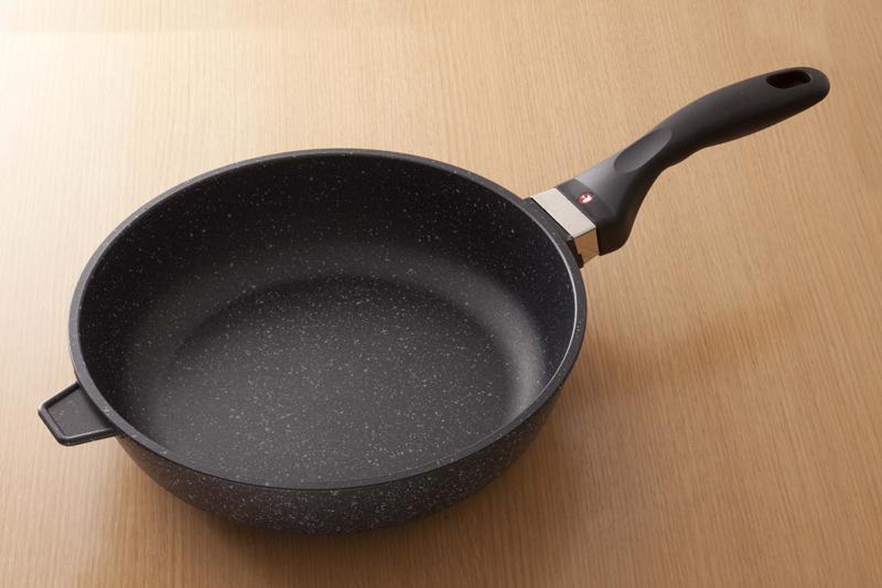 フライパン 28cm深型 【ヘルスケアセット Morning f】 ruhru健康フライパン (28cm x 7.5cm 深鍋 )+蓋+セット限定プレゼント