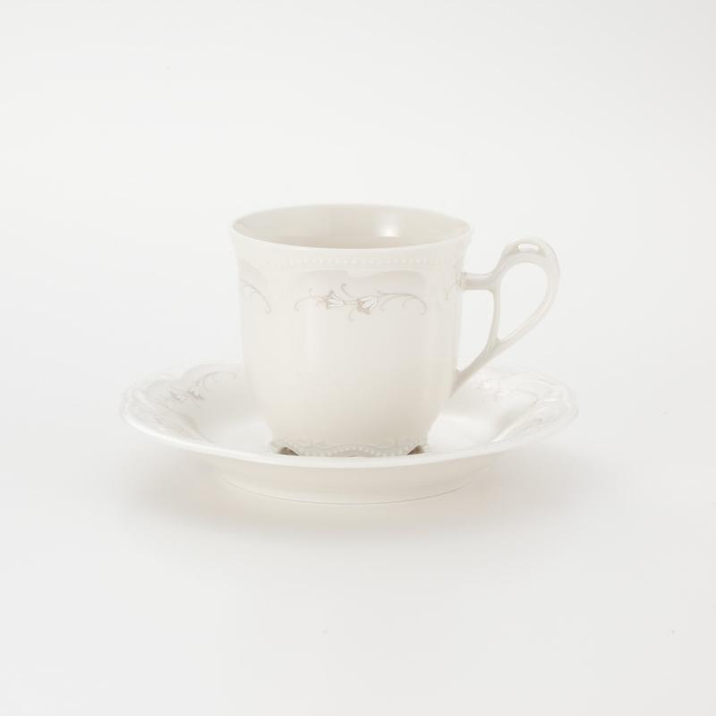 Koeniglich Tettau(Rubin cream)ティー・コーヒー兼用カップ&ソーサー