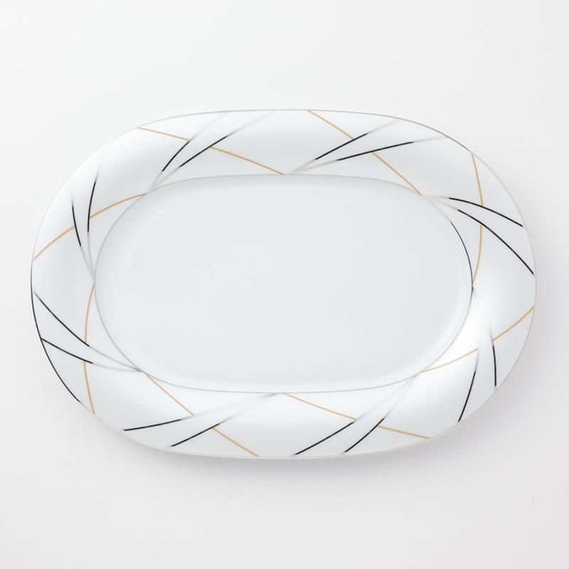 Koeniglich Tettau(Jade silk)楕円プレート