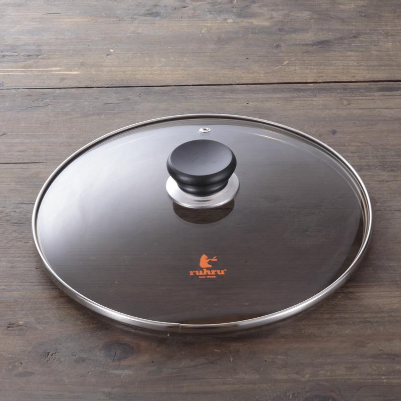 フライパン 28cm浅型 【ヘルスケアセット Relax c】 ruhru健康フライパン (28cm x 5.3cm )+蓋+セット限定プレゼント