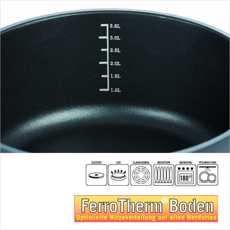 アルミ鋳造鍋 24cm x 10.5cm IH&直火用 SilcoGUSS noir (シリコガス ノワール)