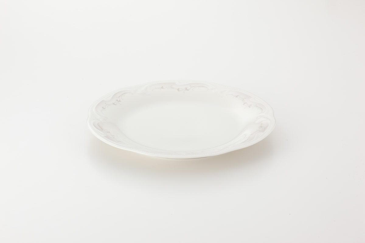 Koeniglich Tettau(Rubin cream)ラウンドプレート