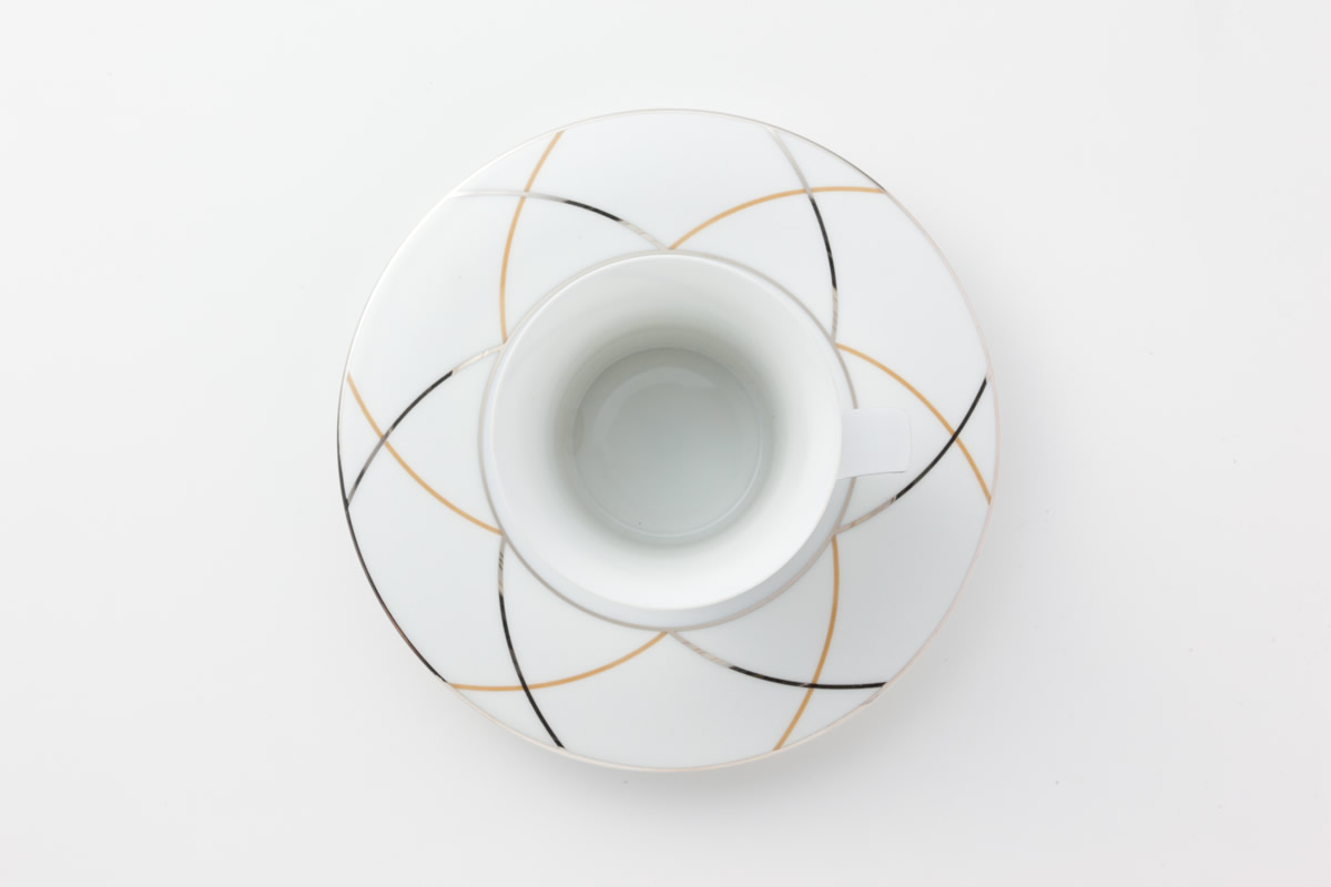 Koeniglich Tettau(Jade silk)ティー・コーヒー兼用カップ&ソーサー