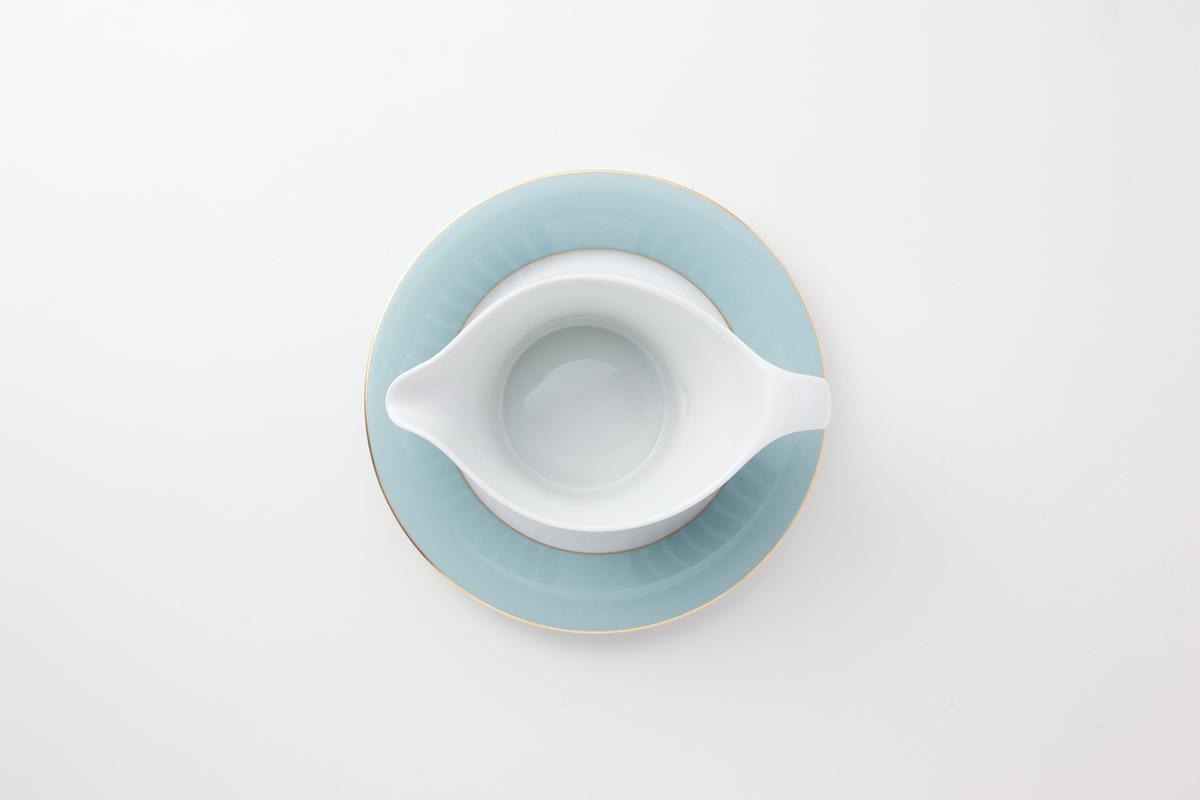Koeniglich Tettau(Jade swing blau)ソースボート&スタンド