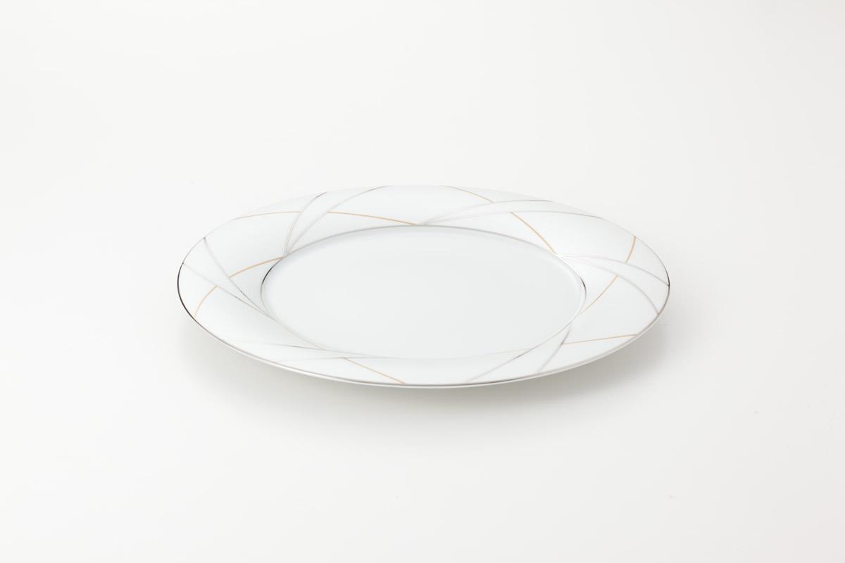 Koeniglich Tettau(Jade silk)ラウンドプレート