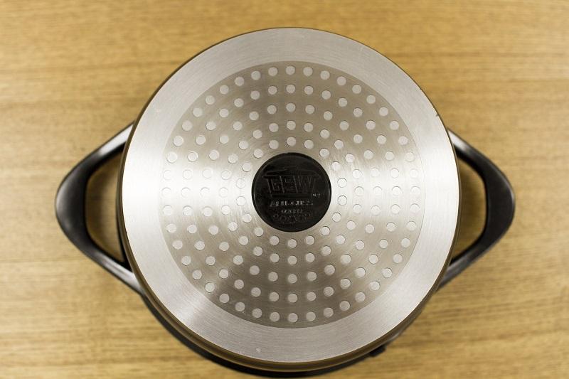 セラミック鍋 20cm x 9.0cm IH&直火用 Ceramica Kobaltblau (セラミカコバルトブルー)  蒸し器付き