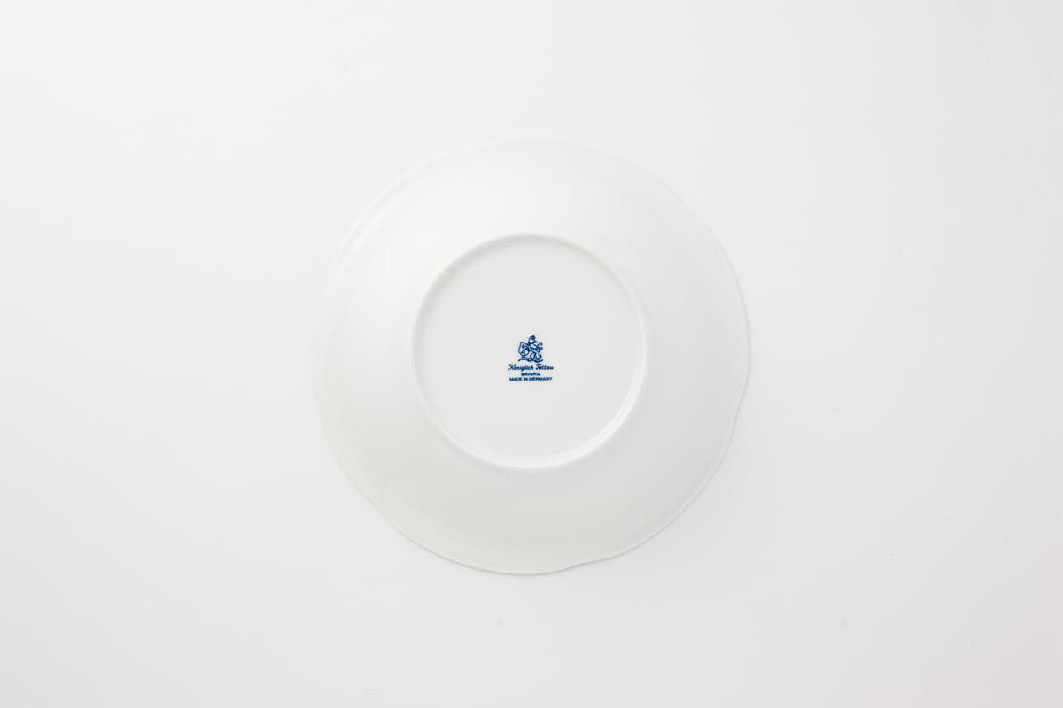 Koeniglich Tettau(Rubin cream)ボウル皿(M)
