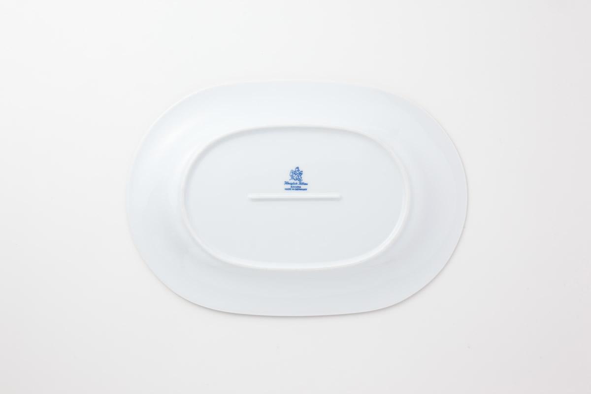 Koeniglich Tettau(Jade swing blau)楕円プレート