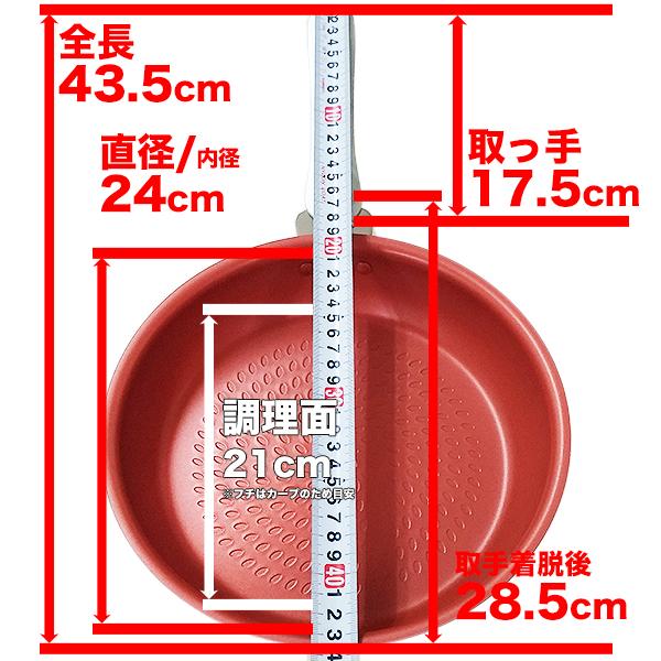 王様フライパンPENTA(ペンタ)24cm×5.0cm IH&直火用 ルビー