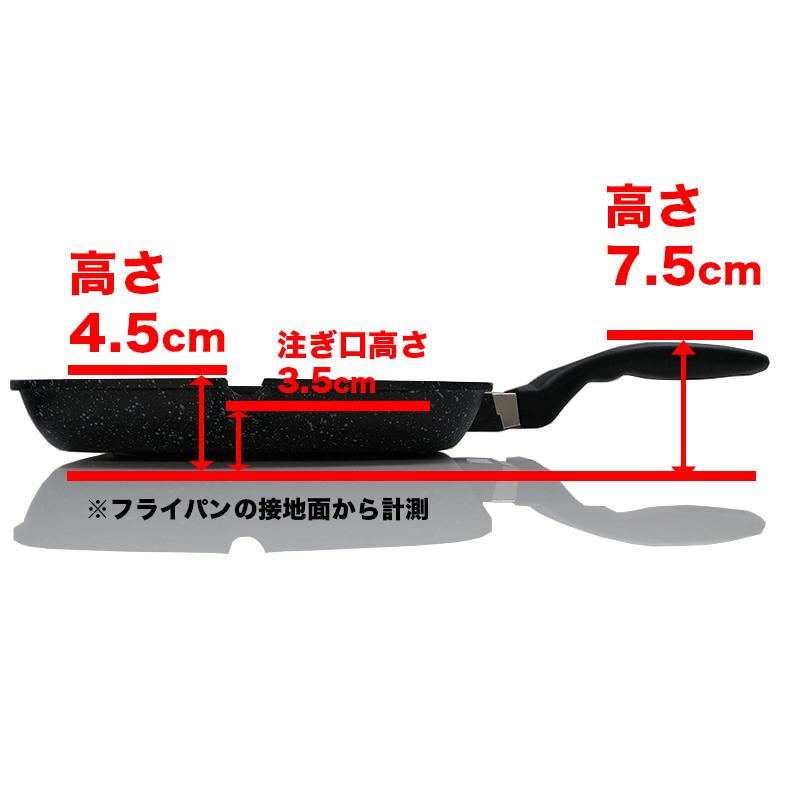 【28cmグリル IH】 ruhru(ルール)健康グリルパン  28cm IH&直火用