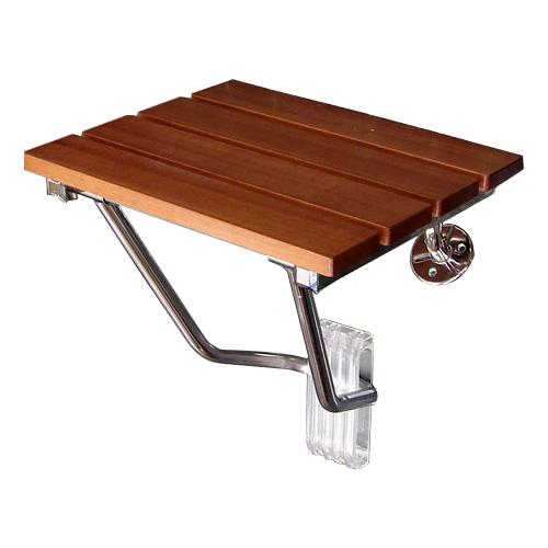 壁付けイス 簡易椅子 コンパクト DIY 収納 折りたたみ 木 ウッド | 品番k-isu-wood