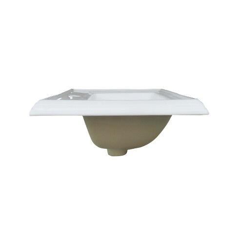 洗面ボウル おしゃれ 陶器 四角 埋め込み オーバーフロー有り リフォーム DIY W590×D470×H230 | 品番INK-0402003H