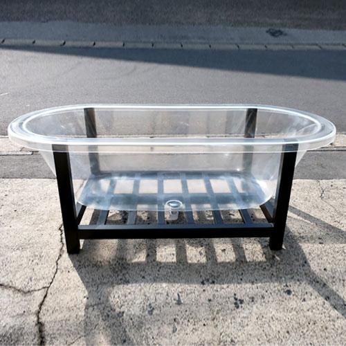 透明バスタブ 置き型 浴槽 展示 ディスプレイ おしゃれ キズ、くもり有り W1705×D810×H605 | 品番INK-0202001H