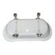 猫足バスタブ(置き型・アンティーク風浴槽・ディスプレイ) サイズW1760×D710×H760 INK-0201002H